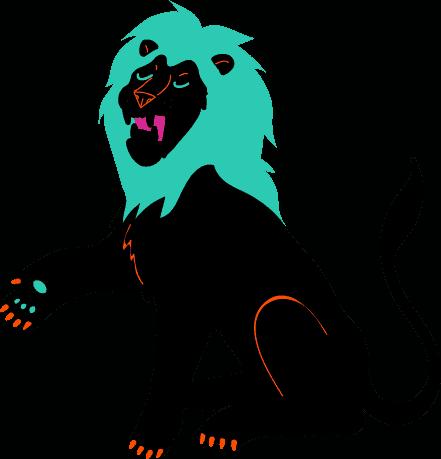 Pictogramme d'un Lion
