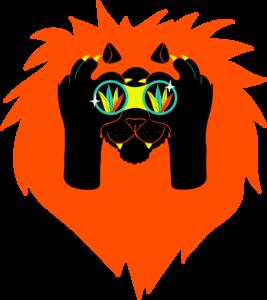 Pictogramme d'un Lion avec des Jumelles_Évènement recrutement