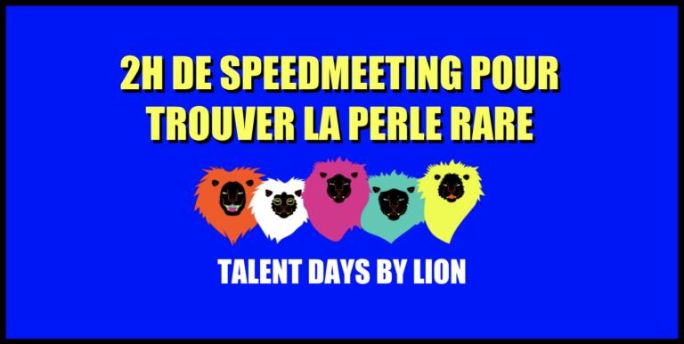 Visuel avec texte et pictogramme de Lions